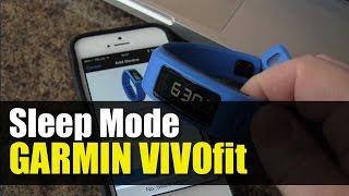 Garmin Vivofit - How to go to Sleep mode