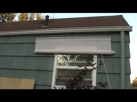 How to Fix Outdoor Rollup Shades Threading - YouTube