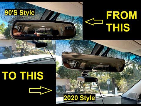 LEXUS GX460 UPGRADE TO 2020 FRAMELESS REARVIEW MIRROR DIY INSTALL