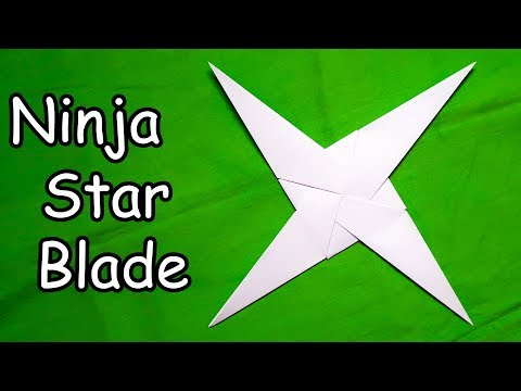 Paper Ninja Star (4 Pointed) - Easy Origami Tutorial