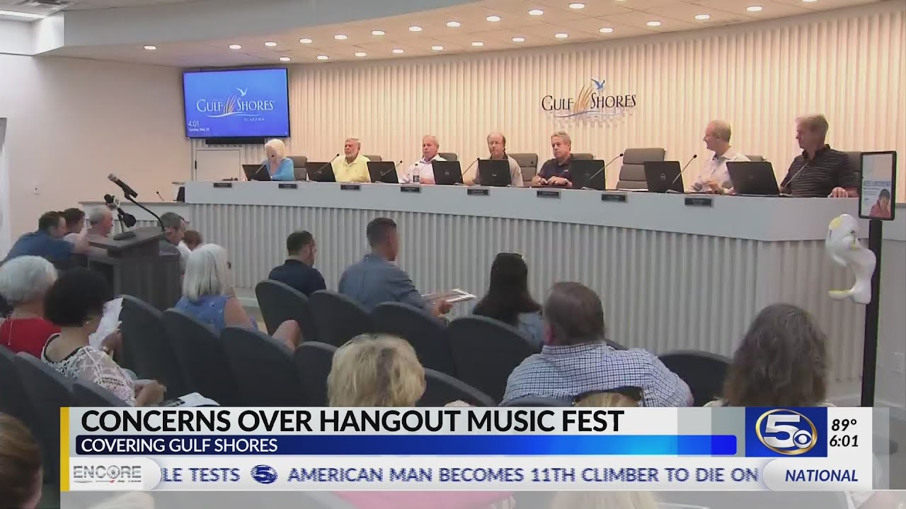 VIDEO: Citizens pack city hall to discuss Hangout Fest