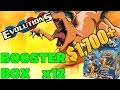 12 booster boxes of XY Evolutions! $1,700 in retail! Two cases - Pokemon Trading card game opening