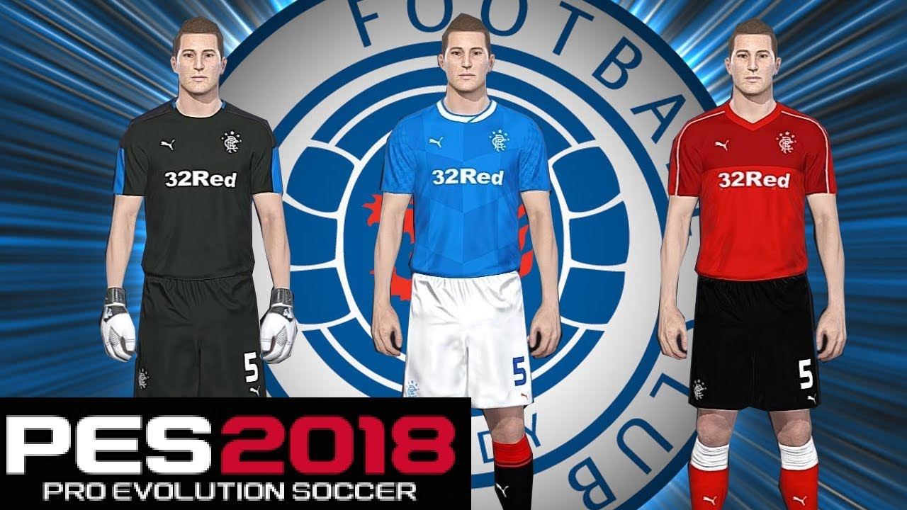 PES 2018 - RANGERS FC OPTION FILE | PS4 |