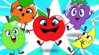 Five Cute Fruits Song + More Nursery Rhymes & Kids Songs - HooplaKidz