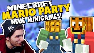 WELCHE SPITZHACKE BAUT AM SCHNELLSTEN AB?! ✪ Neue Minispiele bei Minecraft Mario Party mit Smurf