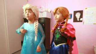 6 yr old cosplay twin sisters sing for the first time in forever reprise
