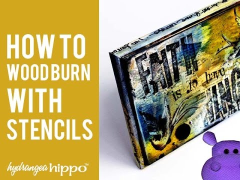 How to wood burn with stencils youtube how to wood burn with stencils spiritdancerdesigns Images