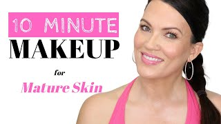 10 MINUTE MAKEUP ROUTINE - FAST, EASY & LOOKS NATURAL MAKEUP FOR MATURE SKIN - City Lips
