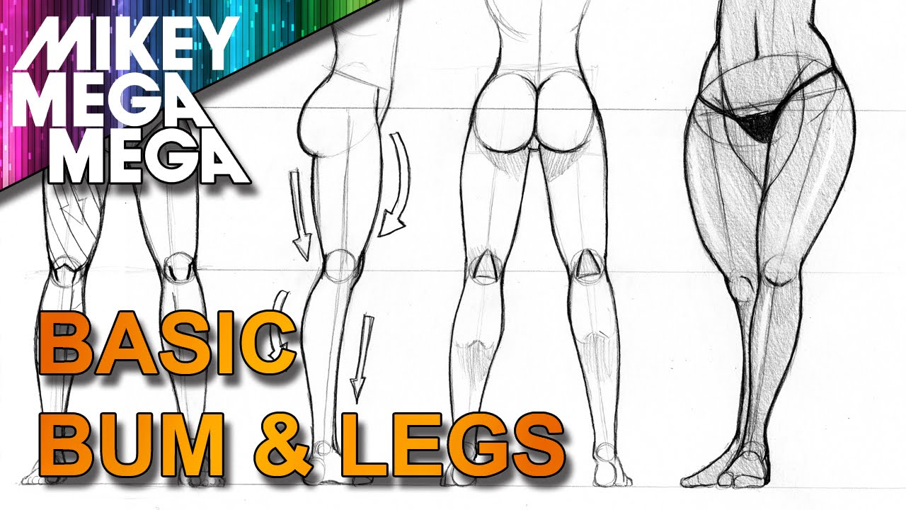 How To Draw FEMALE MANGA BUMS AND LEGS with MIKEY MEGA MEGA - YouTube