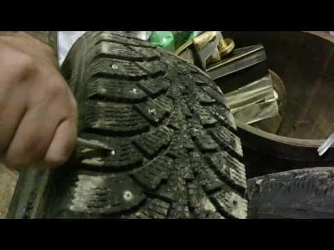 Как снять шипы с зимней резины видео