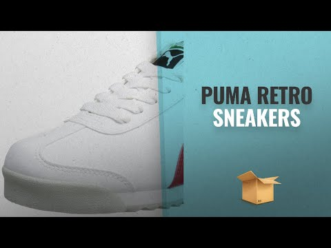 Top 10 PUMA Men's Retro Sneakers: PUMA Men's Roma Basic Fashion Sneaker, White/High Risk Red/White -