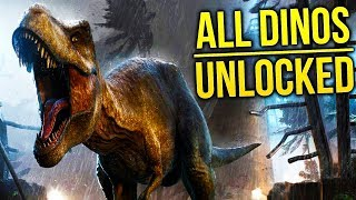 Jurassic World Evolution - All 42 Dinosaurs In JWE - Indominus Rex, Mamenchisaurus & More!