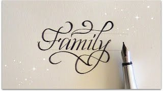 how to write in calligraphy - Family for beginners