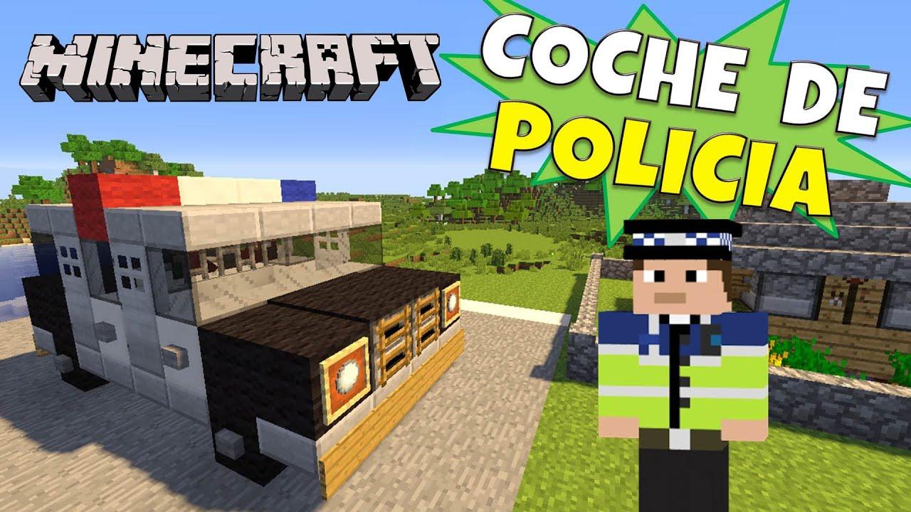 Minecraft como hacer un coche de policia police car for Casa moderna minecraft rey zerch