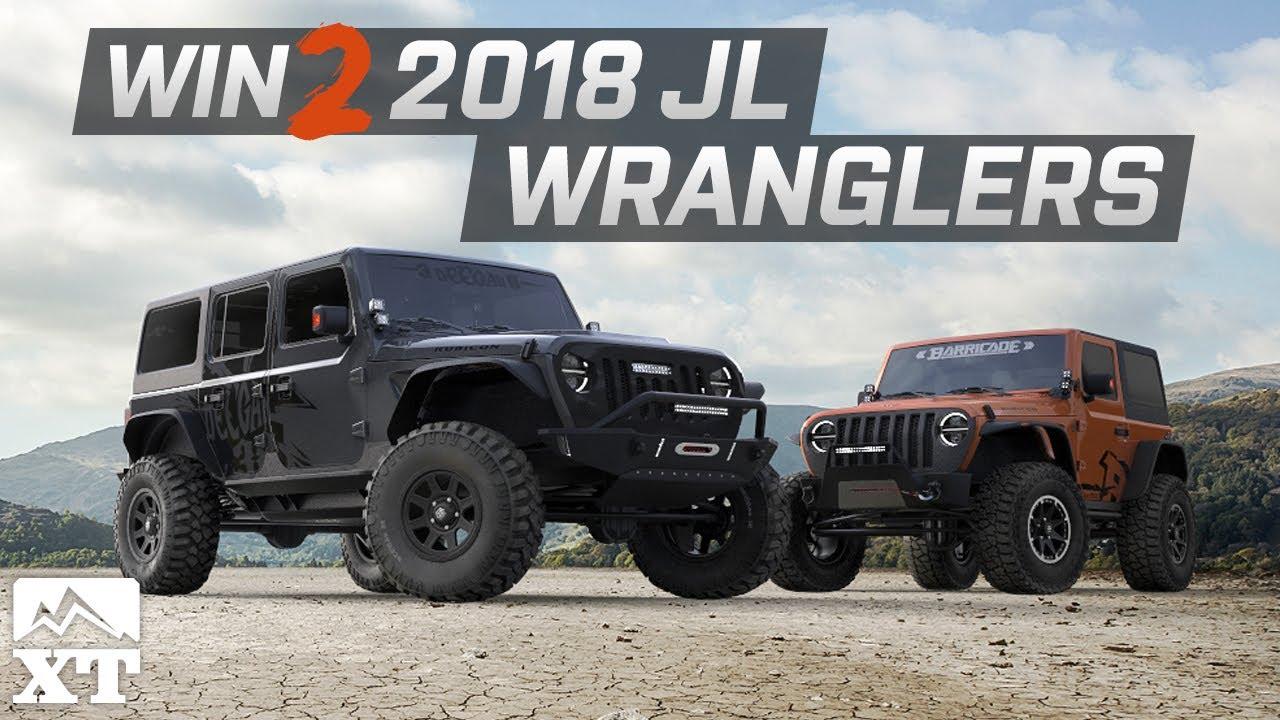 2018 jeep wrangler jl. wonderful 2018 jeep wrangler giveaway  win two 2018 jl wranglers  and jeep wrangler jl