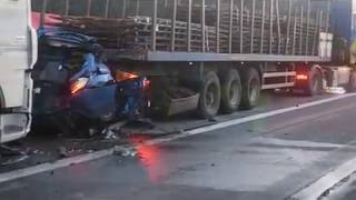 Twee dodelijke slachtoffers bij zwaar ongeval op E19 op 05/02/2018