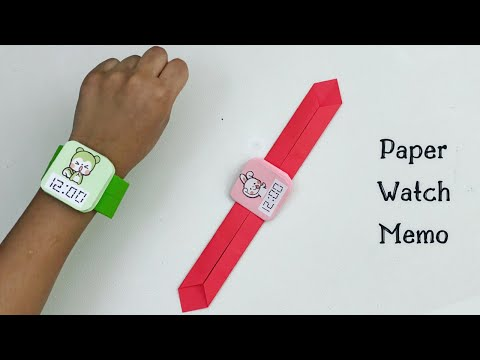 how-to-make-easy-paper-watch-memo-for-kids-/-nursery-craft-ideas-/-paper-craft-easy-/-kids-crafts