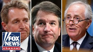 Republicans Corker, Flake want Kavanaugh vote delayed