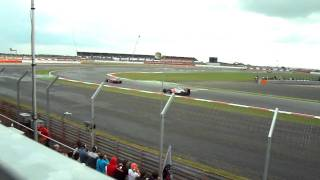 silverstone british F1 grand prix 2011, hamilton chasing down massa, view from village A