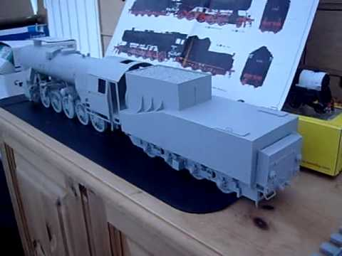 Trumpeter 1/35th scale German BR52 steam loco kit build part 2(studio update July 2012)