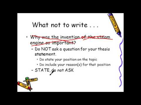 The Thesis Statement Research Paper YouTube