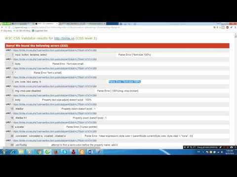 Test HTML, CSS, Link Checker, Jmeter
