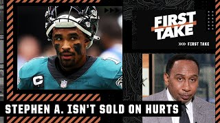 Stephen A. isn't sold on Jalen Hurts as the Eagles' QB of the future | First Take