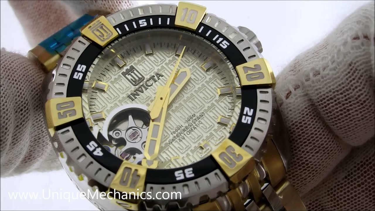 Invicta Jason Taylor Womens Gold Two Tone 38mm Automatic 15887 Watch ... 3b8448467e