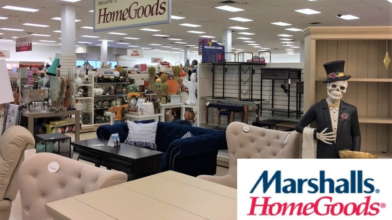 MARSHALLS HOME GOODS FURNITURE FALL HALLOWEEN HOME DECOR SHOP WITH ME  SHOPPING STORE WALK THROUGH 4K
