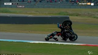 Moto2 Rider Somehow Survives Horrific Crash