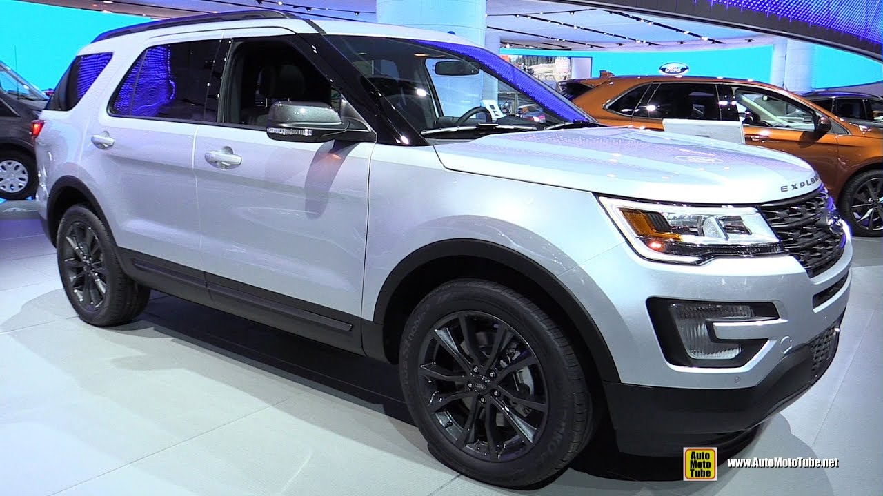 2017 Ford Explorer Xlt Exterior And Interior Walkaround Detroit Auto Show