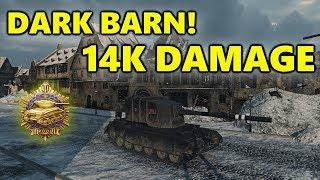 World of Tanks - FV 4005 - 14K DAMAGE 10 Kills - Dark Barn!