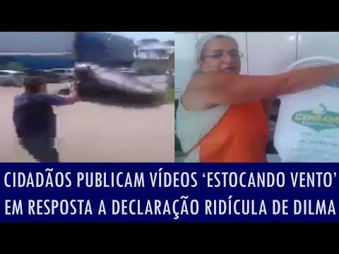 Cidadãos publicam vídeos 'estocando vento' em resposta a declaração ridícula de Dilma