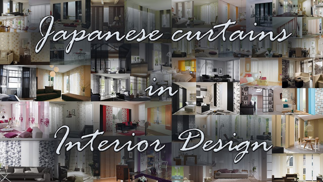 Japanese Curtains In Interior