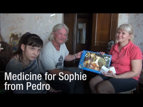 Humanitarian Aid for Donbass: Medicine for Sophie from Pedro (UK)