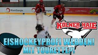 Tourette beim Eishockey spielen mit den Kölner Haien !  - Weihnachtsgewitter
