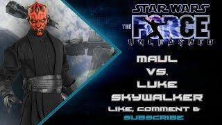Maul vs Luke Skywalker - Star Wars: The Force Unleashed Hoth DLC Mash-Up
