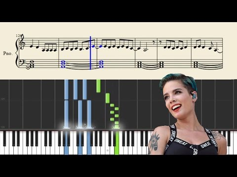 Halsey - Castle - EASY Piano Tutorial + Sheets