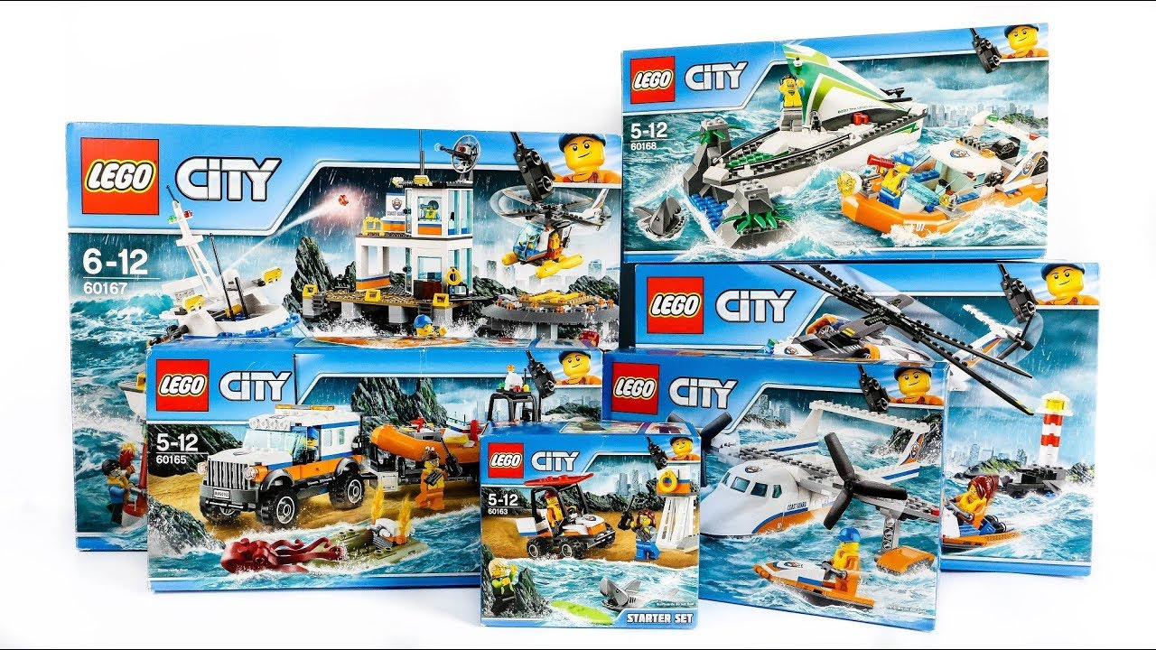 ALL LEGO City Coast Guard Sets Compilation/Collection Speed Build