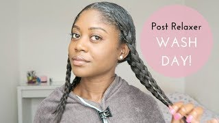 MY POST RELAXER WASH DAY ROUTINE | Healthy Hair Junkie