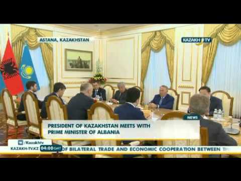 President of Kazakhstan meets with Prime Minister of Albania