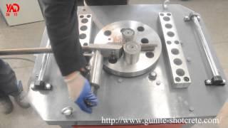 GW40 GW50 Rebar Bender/Steel Bar Bending Machine Working Video