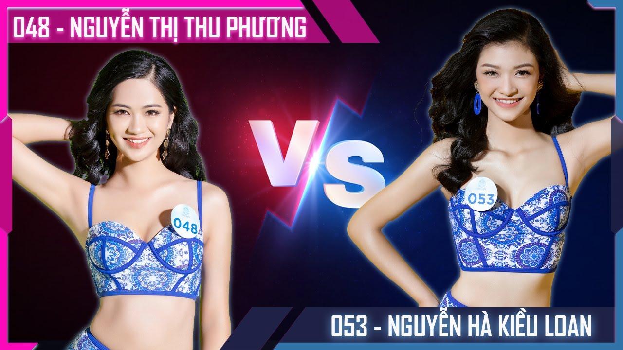 Nguyễn Thị Thu Phương SBD 048 VS Nguyễn Hà Kiều Loan SBD 053 - Bạn sẽ chọn ai - Phần thi Bikini MWVN