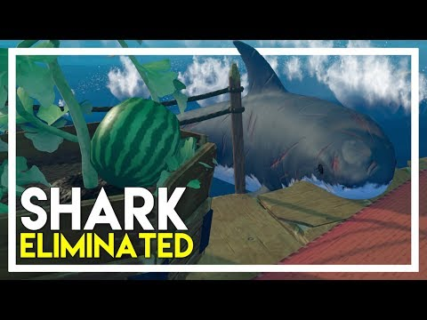 Raft Survival Game - Part 4: Shark Eliminated, Research Upgrades & Nets!