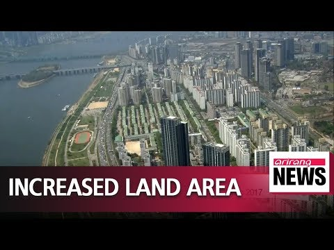 South Korea's land area increases by 24 square kilometers in 2017