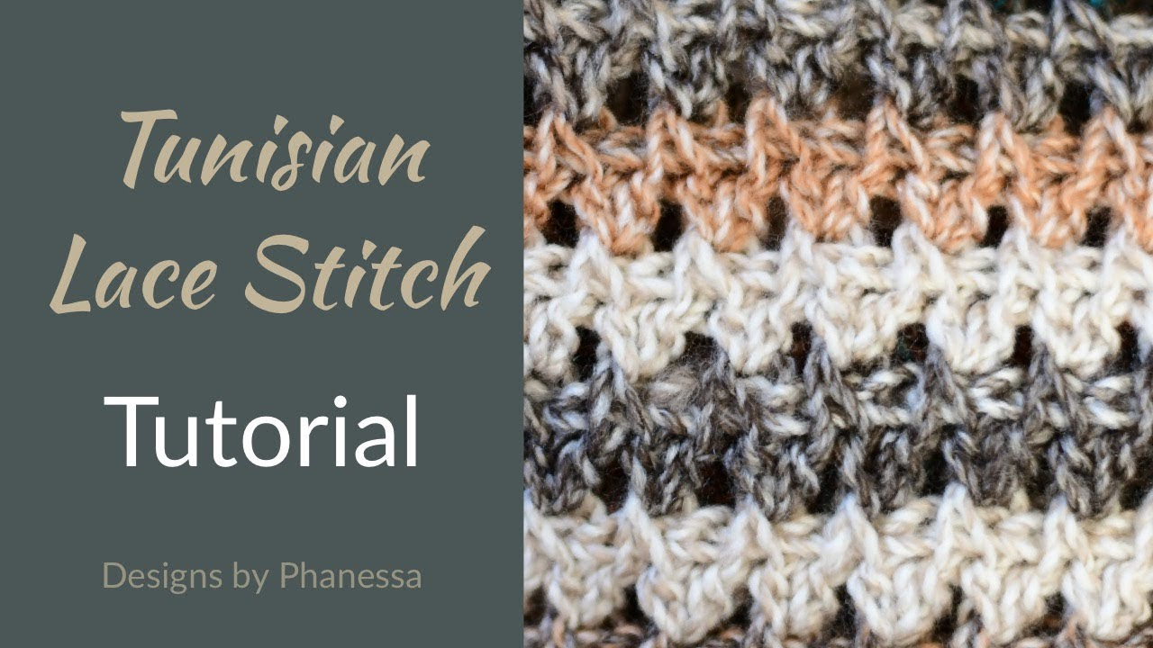 Tunisian Lace Stitch #1 - Tutorial