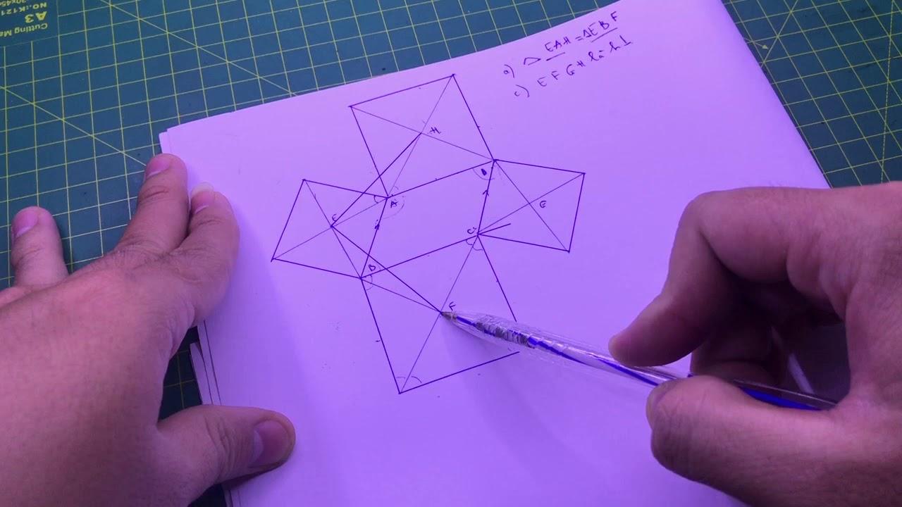 Giải bài tập toán hình học lớp 8 ( hình bình hành , hình vuông , hai tam giác bằng nhau )