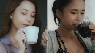 テラハ・NIKI&田辺莉咲子、コーヒーで美ボディに!  「C COFFEE」新CM「スタイルキープ篇」「アイスコーヒー篇」