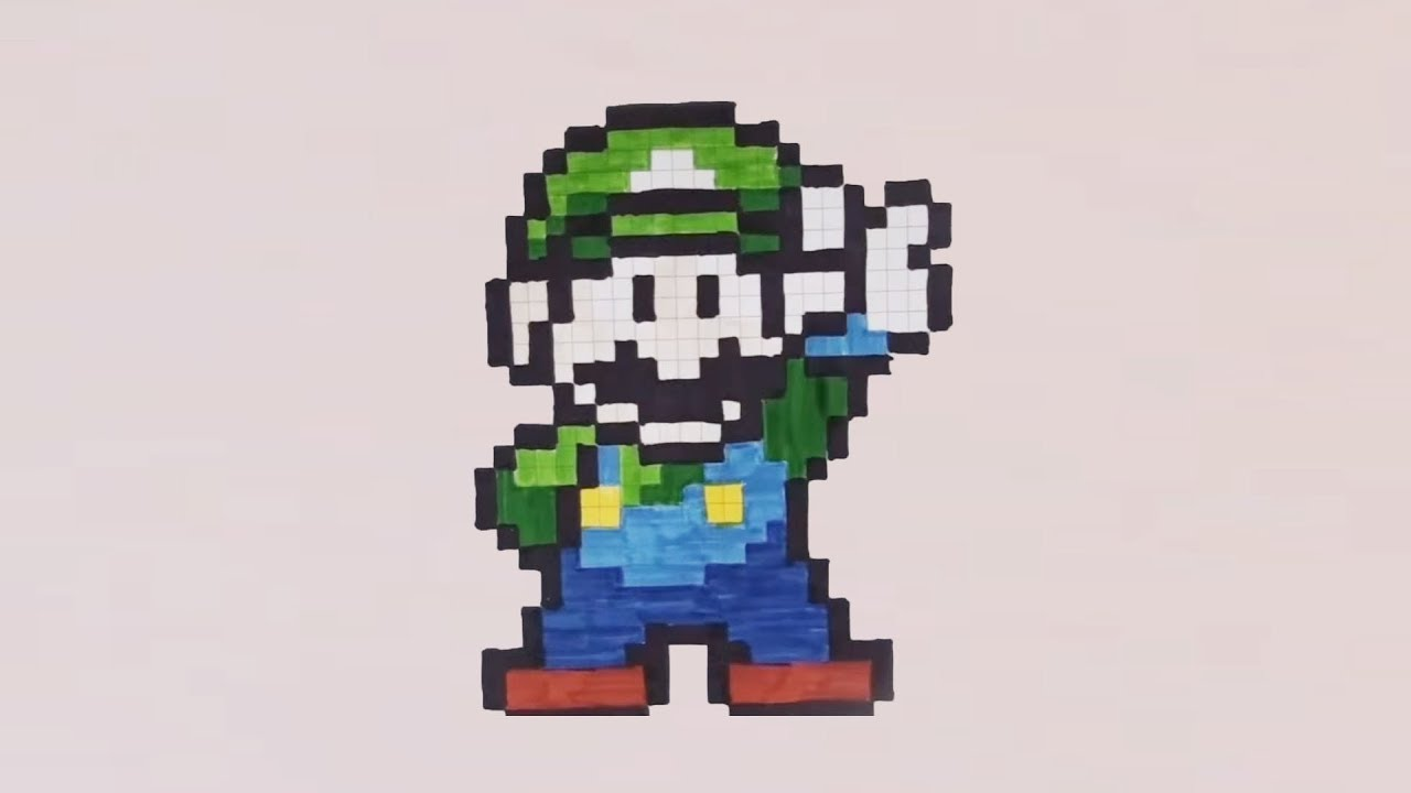 Comment Dessiner Luigi Pixel Art
