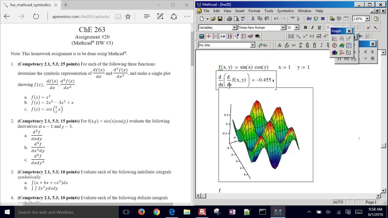 MathCAD Graphing and Calculus